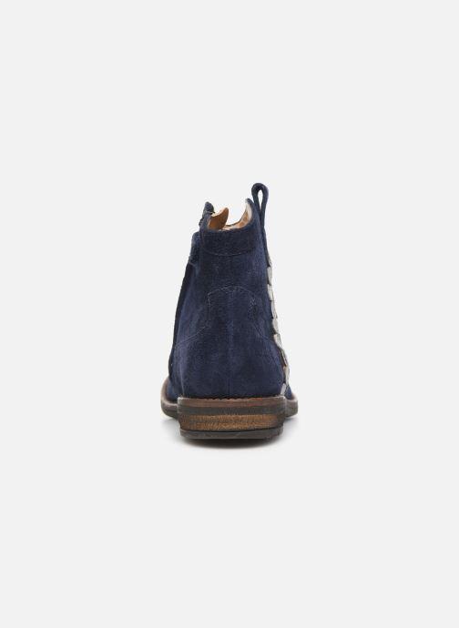 Bottines et boots Pom d Api Billy ferns Bleu vue droite