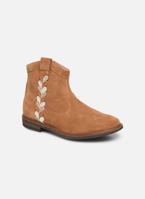 Bottines et boots Pom d Api Billy ferns Marron vue détail/paire