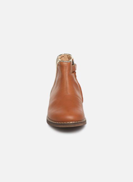 Bottines et boots Pom d Api City art Marron vue portées chaussures