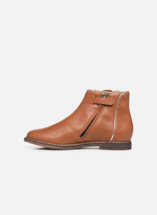 Boots en enkellaarsjes Pom d Api City art Bruin voorkant