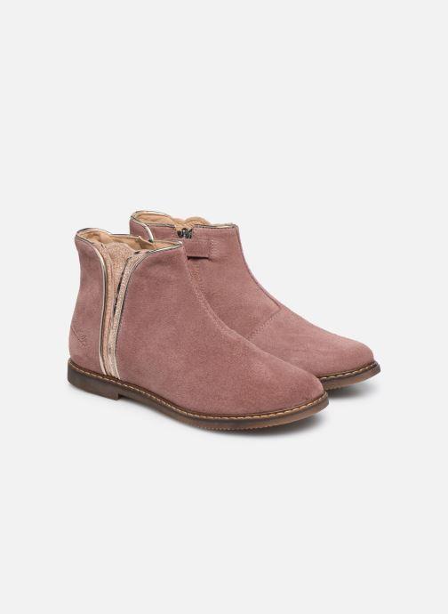 Boots en enkellaarsjes Pom d Api City art Roze 3/4'
