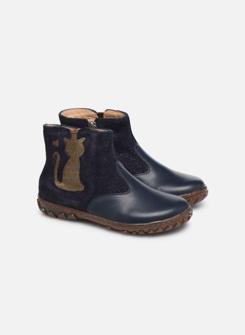 Botines  Pom d Api Cute boots cat SZ Azul vista 3/4
