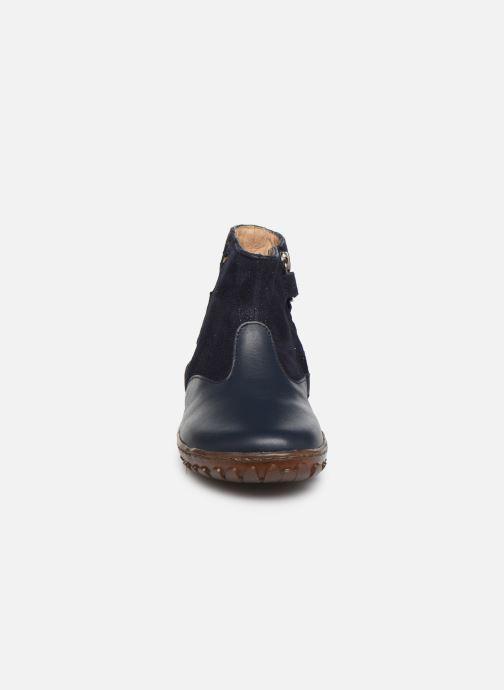 Botines  Pom d Api Cute boots cat SZ Azul vista del modelo
