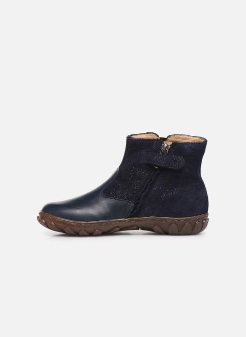 Botines  Pom d Api Cute boots cat SZ Azul vista de frente