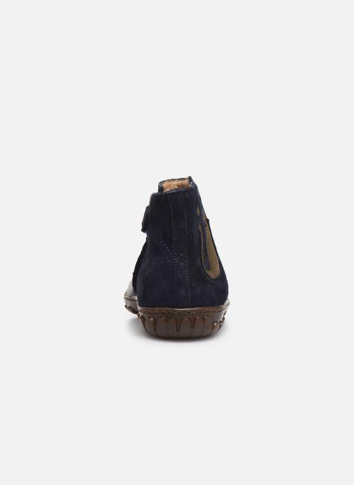 Botines  Pom d Api Cute boots cat SZ Azul vista lateral derecha