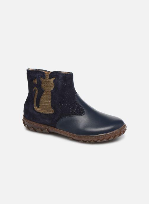 Bottines et boots Pom d Api Cute boots cat SZ Bleu vue détail/paire
