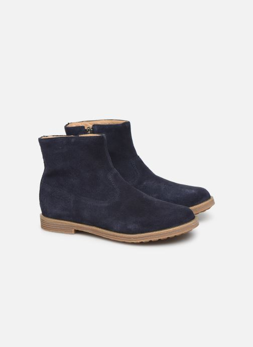 Ankle boots Pom d Api Trip rolls boots Blue 3/4 view