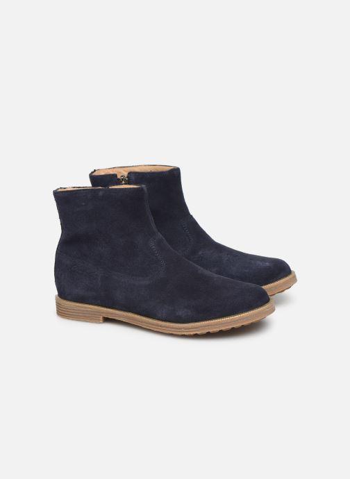 Bottines et boots Pom d Api Trip rolls boots Bleu vue 3/4