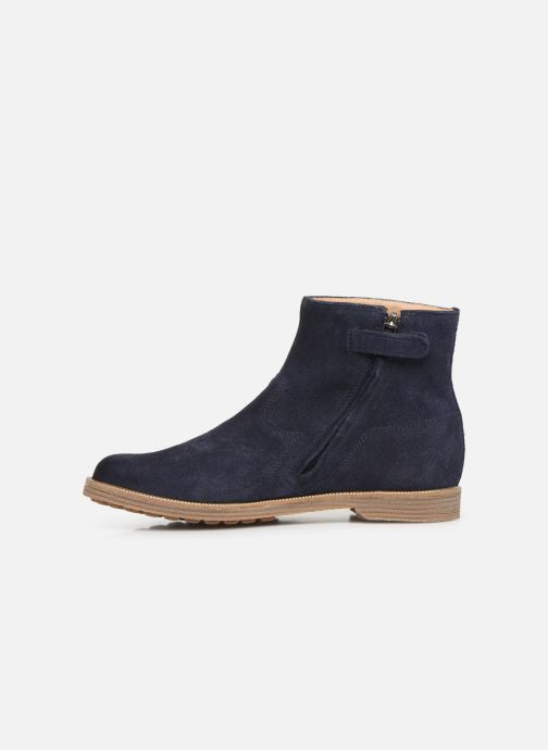 Ankle boots Pom d Api Trip rolls boots Blue front view