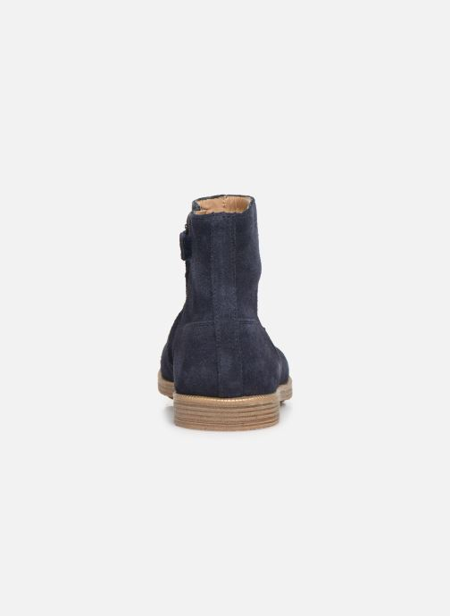 Ankle boots Pom d Api Trip rolls boots Blue view from the right