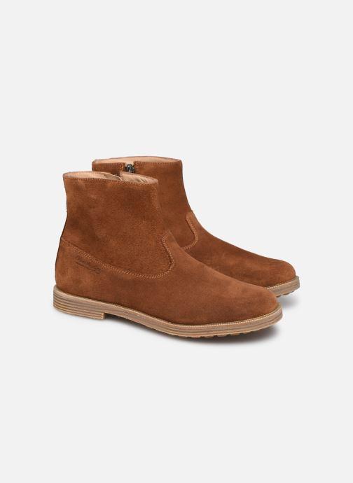 Bottines et boots Pom d Api Trip rolls boots Marron vue 3/4