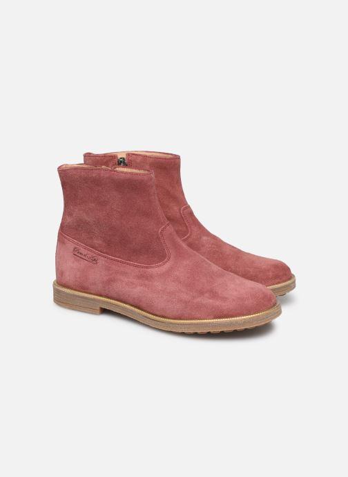Bottines et boots Pom d Api Trip rolls boots Rose vue 3/4