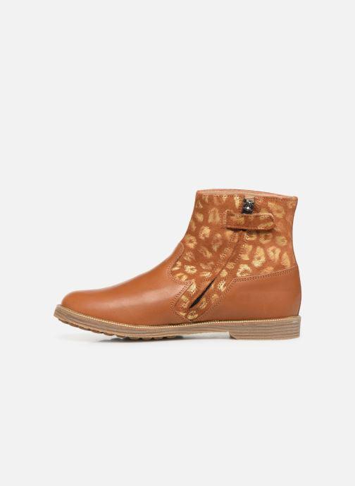 Boots en enkellaarsjes Pom d Api Trip rolls boots Bruin voorkant
