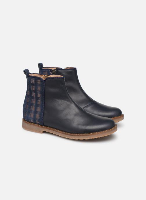 Bottines et boots Pom d Api Trip back Bleu vue 3/4