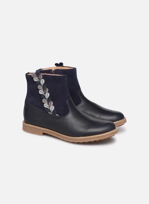 Ankle boots Pom d Api Trip rolls fern Blue 3/4 view