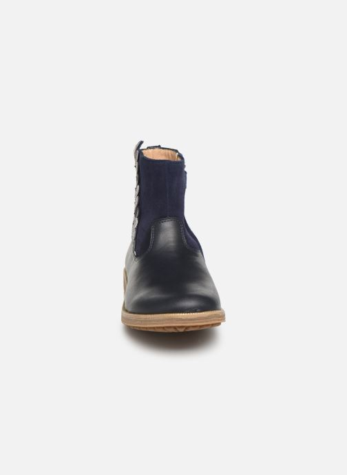 Ankle boots Pom d Api Trip rolls fern Blue model view