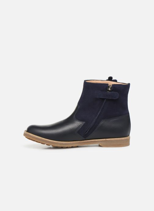 Ankle boots Pom d Api Trip rolls fern Blue front view