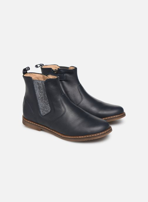 Bottines et boots Pom d Api City jodzip Bleu vue 3/4