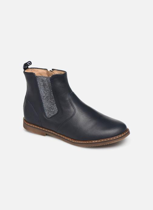 Bottines et boots Pom d Api City jodzip Bleu vue détail/paire