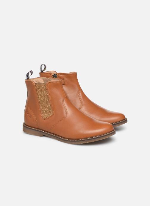 Bottines et boots Pom d Api City jodzip Marron vue 3/4