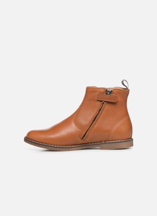 Bottines et boots Pom d Api City jodzip Marron vue face