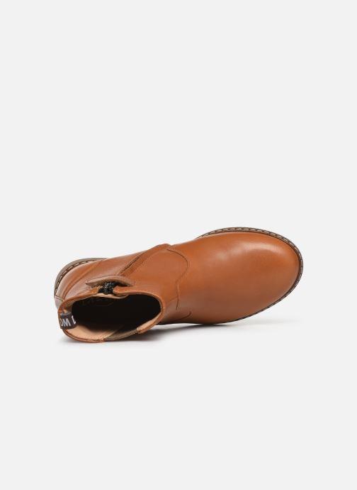 Boots en enkellaarsjes Pom d Api City jodzip Bruin links