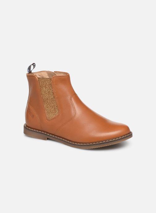 Bottines et boots Pom d Api City jodzip Marron vue détail/paire