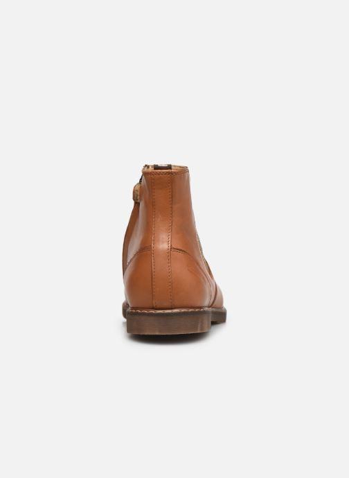 Bottines et boots Pom d Api City jodzip Marron vue droite