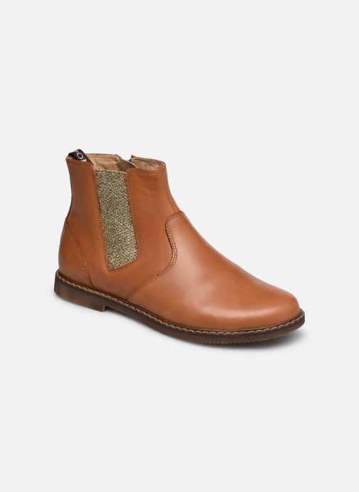 Boots en enkellaarsjes Pom d Api City jodzip Bruin detail