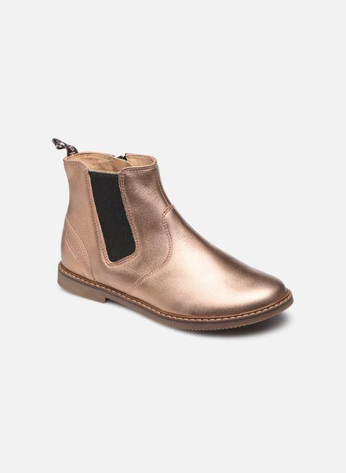 Boots en enkellaarsjes Pom d Api City jodzip Goud en brons detail