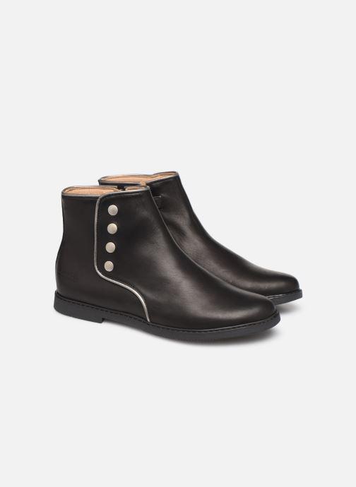 Bottines et boots Pom d Api City getre Noir vue 3/4