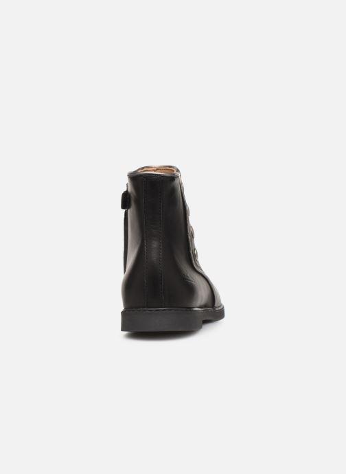Bottines et boots Pom d Api City getre Noir vue droite