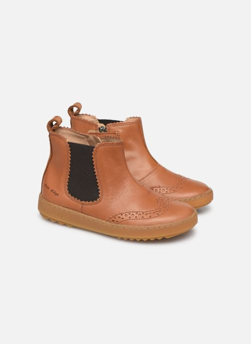Ankle boots Pom d Api Wouf jodzip Brown 3/4 view