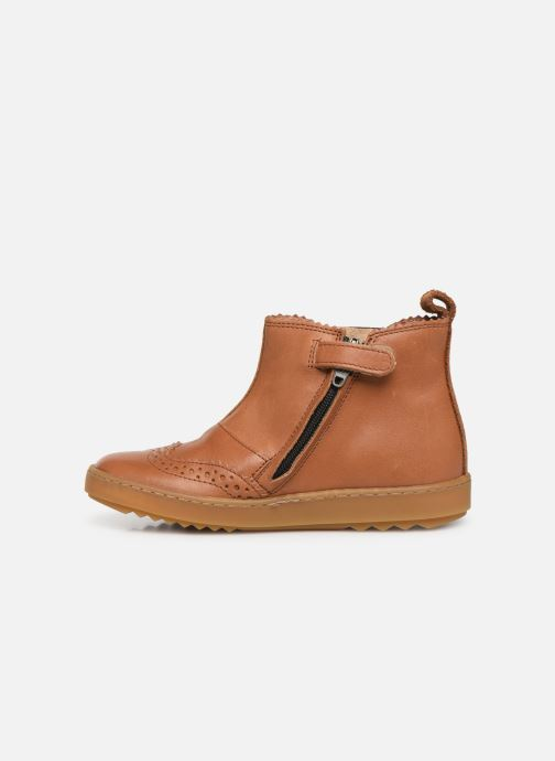 Ankle boots Pom d Api Wouf jodzip Brown front view