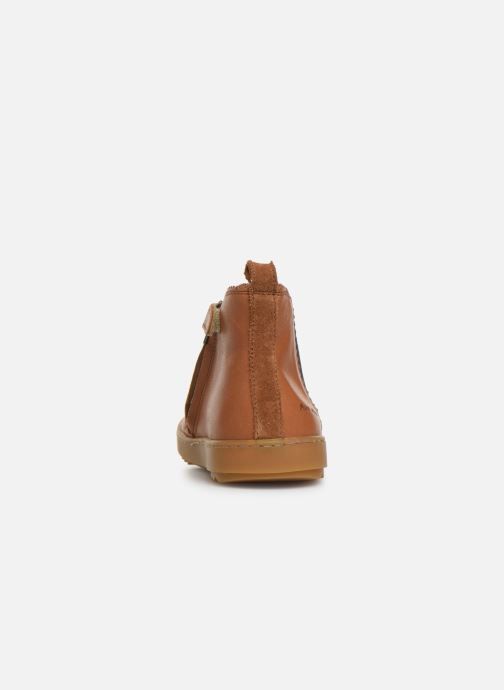 Ankle boots Pom d Api Wouf jodzip Brown view from the right