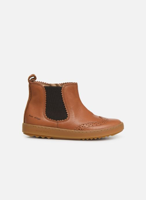 Ankle boots Pom d Api Wouf jodzip Brown back view