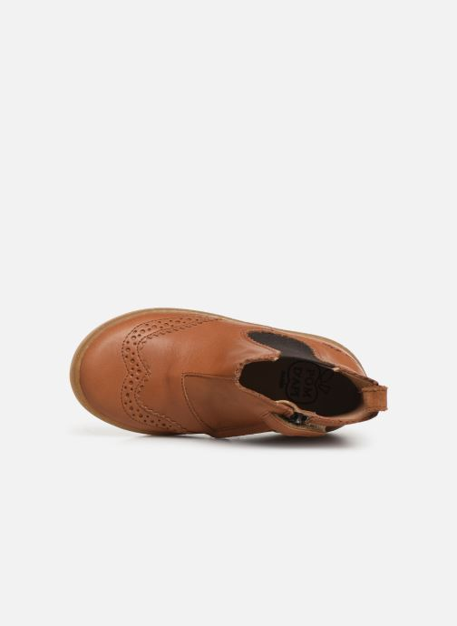 Ankle boots Pom d Api Wouf jodzip Brown view from the left