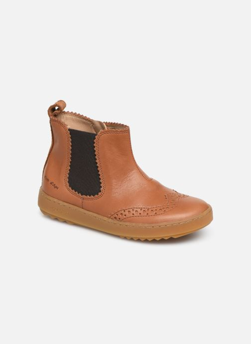 Ankle boots Pom d Api Wouf jodzip Brown detailed view/ Pair view