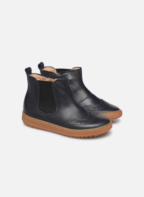 Bottines et boots Pom d Api Wouf jodzip Bleu vue 3/4