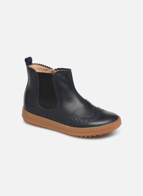 Bottines et boots Pom d Api Wouf jodzip Bleu vue détail/paire