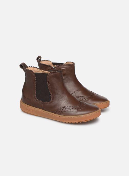 Bottines et boots Pom d Api Wouf jodzip Marron vue 3/4