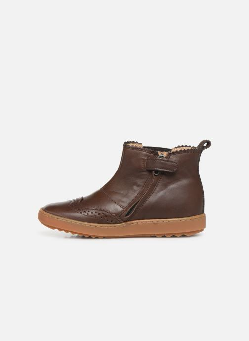 Boots en enkellaarsjes Pom d Api Wouf jodzip Bruin voorkant