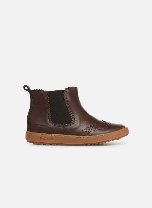 Boots en enkellaarsjes Pom d Api Wouf jodzip Bruin achterkant