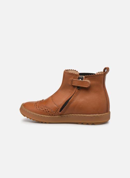 Bottines et boots Pom d Api Wouf jodzip Marron vue face