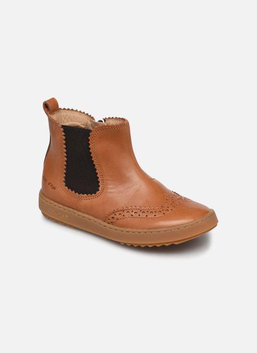 Bottines et boots Pom d Api Wouf jodzip Marron vue détail/paire