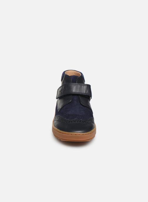 Chaussures à scratch Pom d Api Wouf easy pad Bleu vue portées chaussures