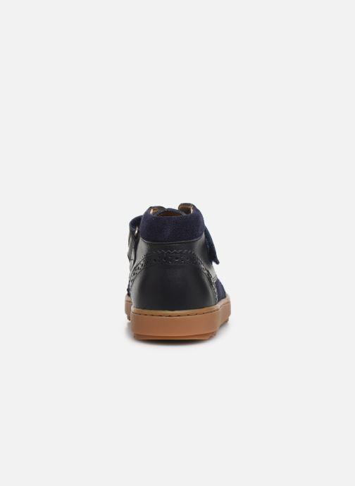 Zapatos con velcro Pom d Api Wouf easy pad Azul vista lateral derecha