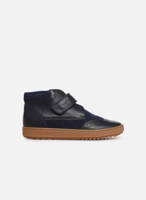 Chaussures à scratch Pom d Api Wouf easy pad Bleu vue derrière