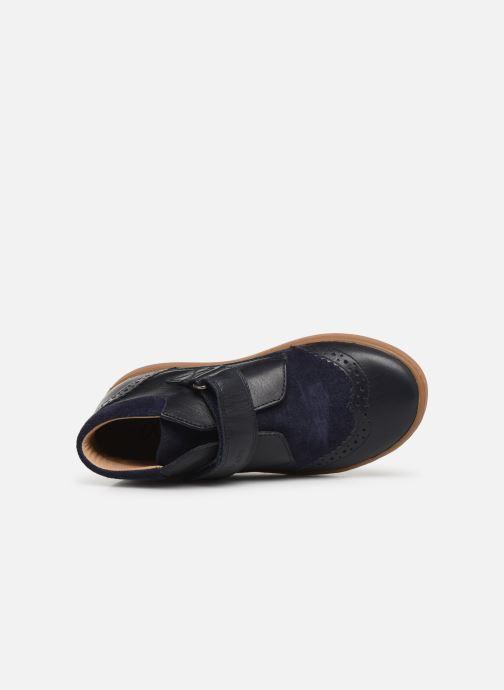 Chaussures à scratch Pom d Api Wouf easy pad Bleu vue gauche
