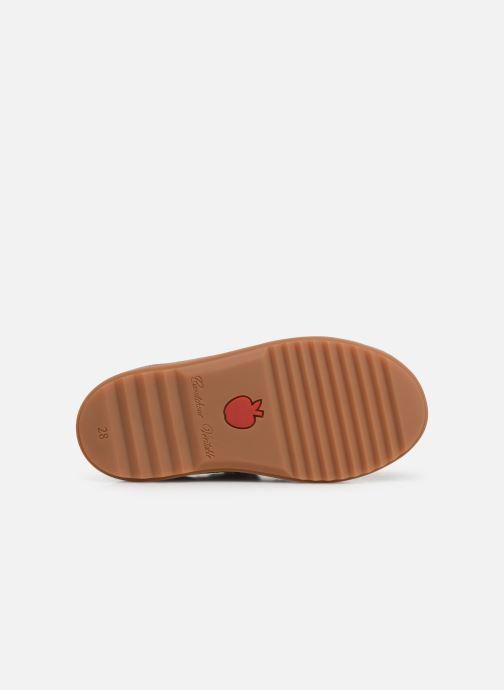 Chaussures à scratch Pom d Api Wouf easy pad Bleu vue haut